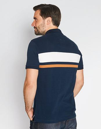 Barsby Stripe Organic Cotton Polo