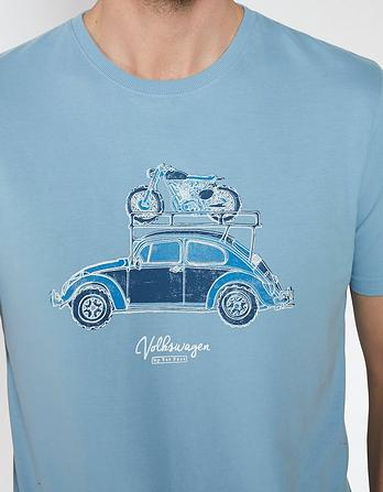 VW Beetle Bike Organic Cotton Graphic T-Shirt