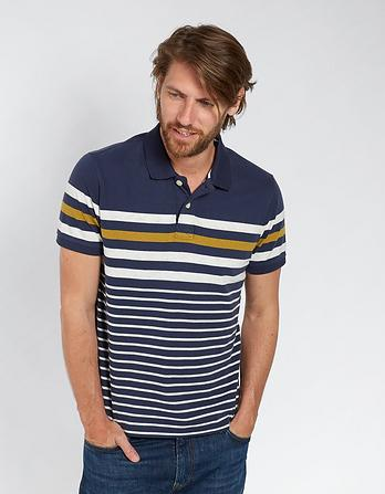 Wysall Stripe Organic Cotton Polo
