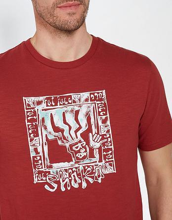 Shaka Fat Head Organic Cotton Graphic T-Shirt
