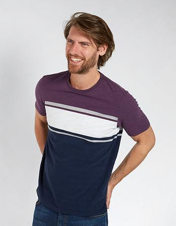 Foxbury Stripe Organic Cotton T-Shirt