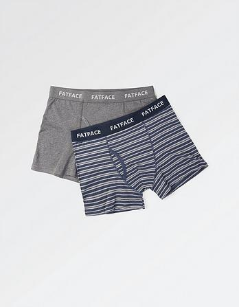Two Pack Oxford Stripe Boxers