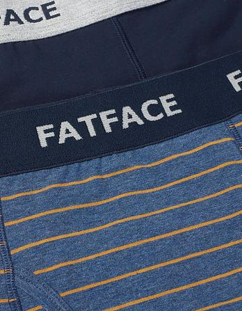 Two Pack Lulworth Stripe Boxers