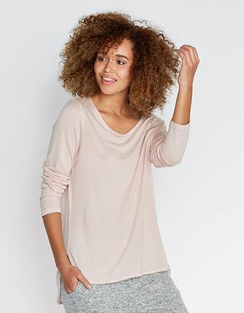 Long Sleeve Scoop Neck T-Shirt