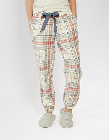 Honey Check Cuffed Lounge Pants