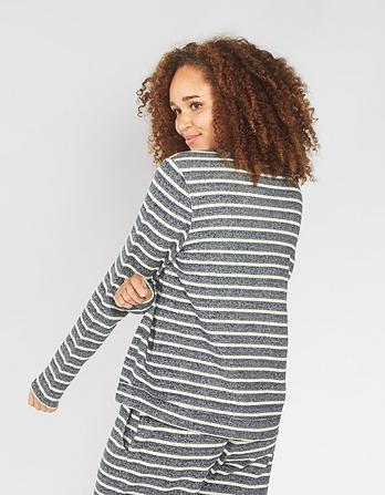 Stripe Lounge Crew Neck Sweatshirt