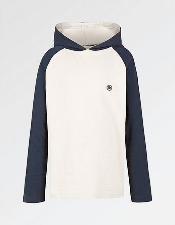 Hooded Raglan T-Shirt