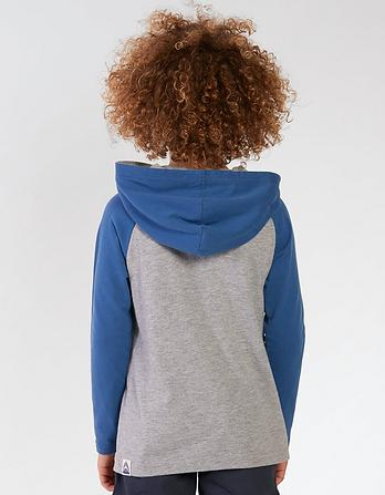 Hooded Raglan T-Shirt