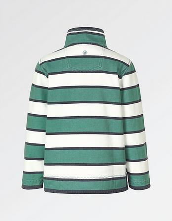 Jamie Block Stripe Half Neck Sweatshirt