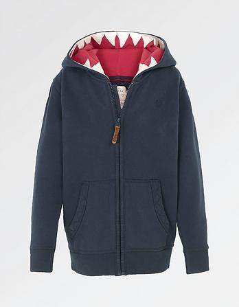 Shark Tooth Zip Thru Hoody