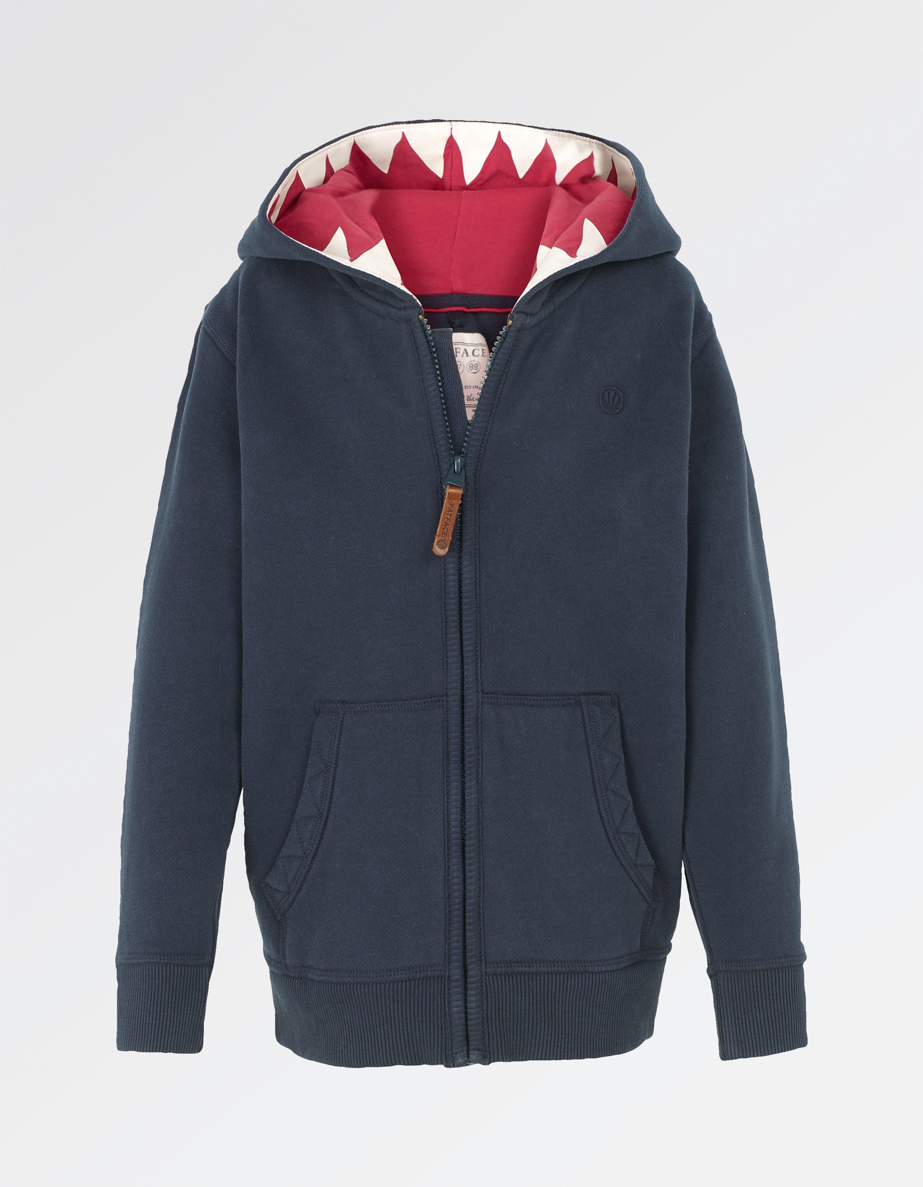 Shark Tooth Zip Thru Hoody