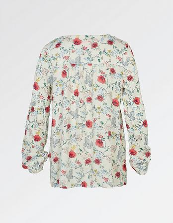 Emily Butterfly Print Blouse