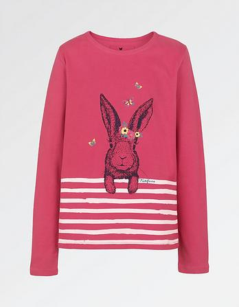 Stripe Bunny Graphic T-Shirt