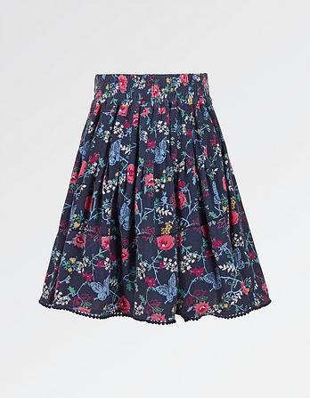 Butterfly Print Skirt
