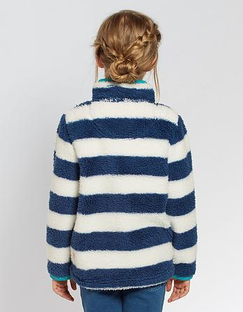 Stripe Half Neck Fleece