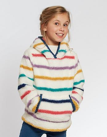 Multi Stripe Popover Fleece
