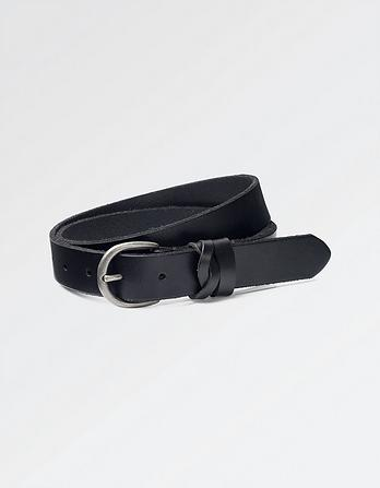 Twist Keeper Leather Belt