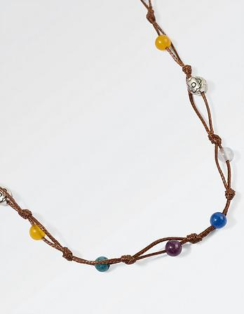 Coloured Bead Cord Necklace