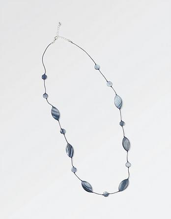 Oval and Disc Cord Necklace