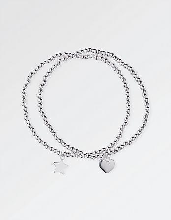 Heart and Star Double Bracelet