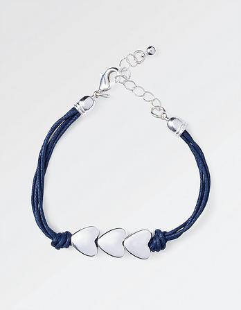 Three Heart Rope Bracelet