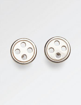 The Old Farmhouse Button Stud Earrings