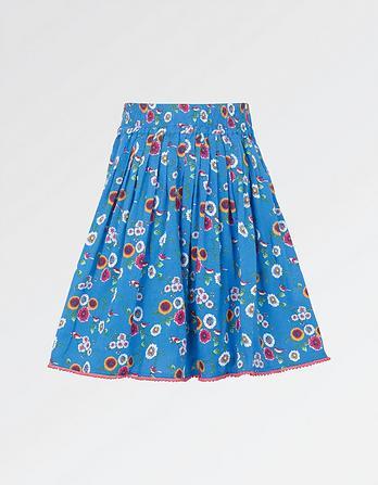 Spring Bird Print Skirt