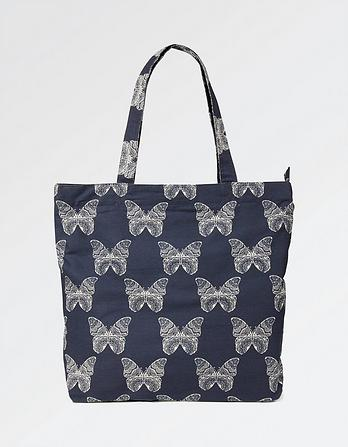 Butterfly Cotton Shopper Bag
