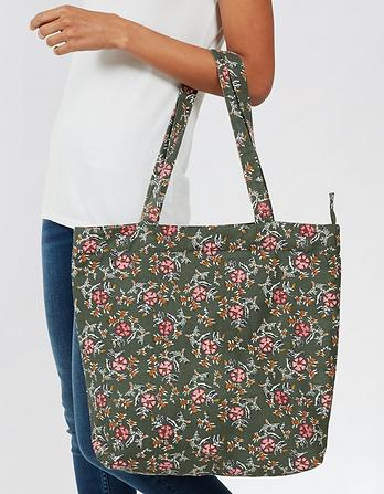 Bali Floral  Cotton Shopper Bag