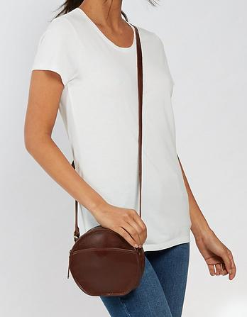 Carrie Circle Leather Bag