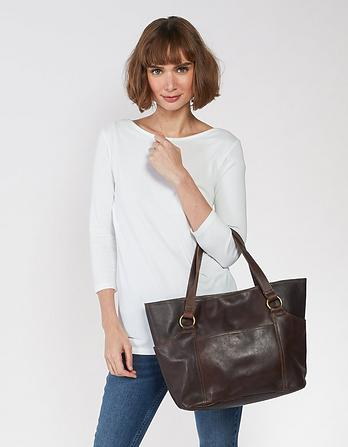 Holly Leather Tote Bag