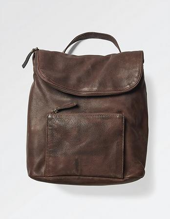 Tara Leather Multi Functional Rucksack
