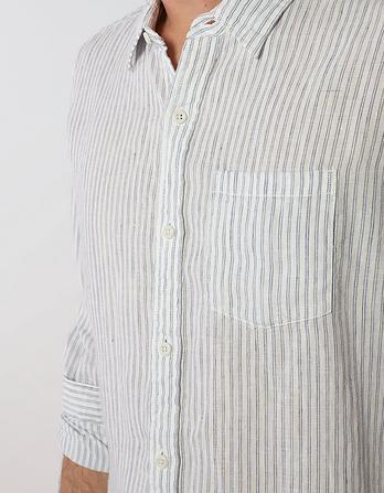 Linen Dual Stripe Shirt