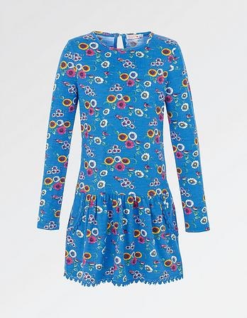 Darlia Spring Bird Print Dress