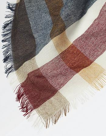 Tilly Check Square Scarf
