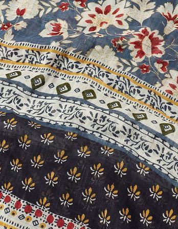 Sari Floral Patchwork Scarf
