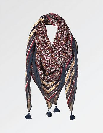 Jewel Geo Square Scarf