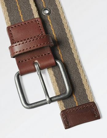 Pop Stripe Woven Belt