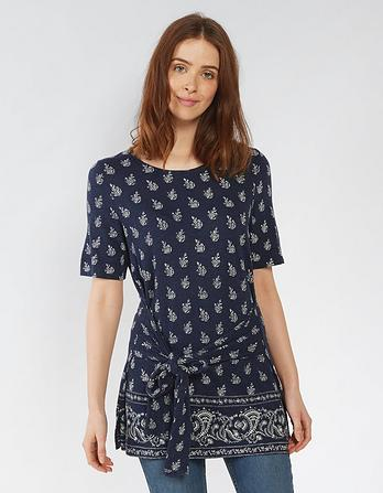 Bronte Woodblock Paisley Top