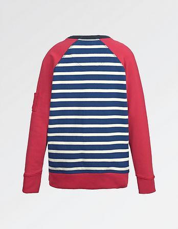 Stripe Crew Neck Sweatshirt