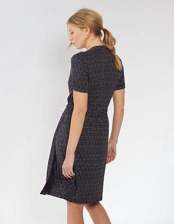 Georgia Geo Wave Wrap Dress