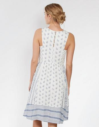 Karen Woodblock Paisley Dress
