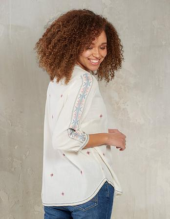 Poppy Embroidered Popover