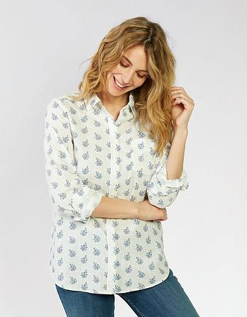 Olivia Woodblock Paisley Shirt