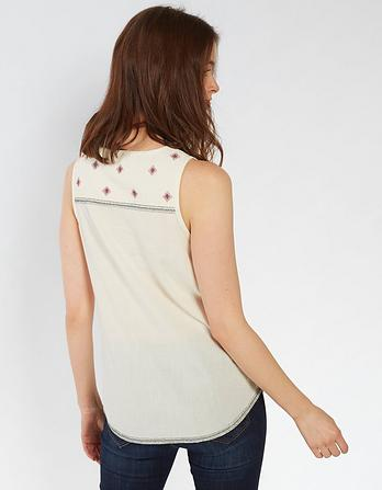 Organic Cotton Cassie Embroidered Cami