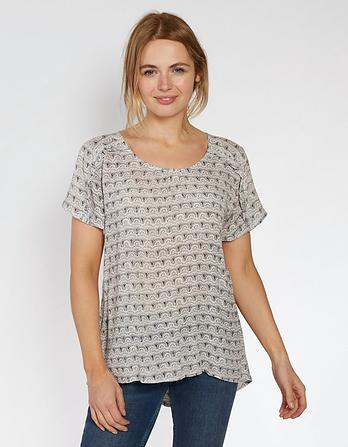 Ella Geo Wave Longline Top