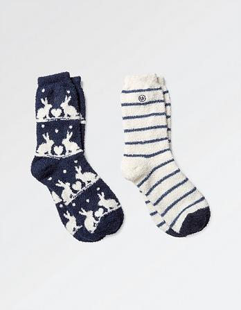 Two Pack Rabbit Fluvia Socks