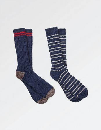 Two Pack Stripe Mallory Socks