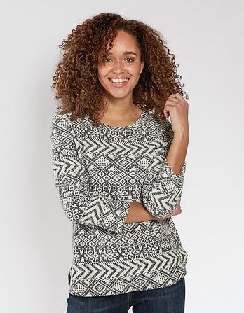 Somerton Patterned Sweatshirt