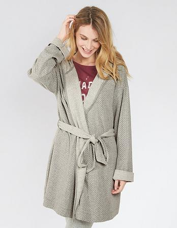 Snow Stripe Dressing Gown